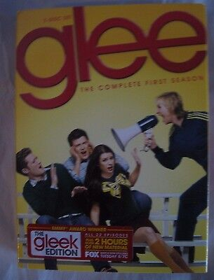 Glee Complete First Season (DVD, 2010, 7-Disc Set) Gleek Edition DVDs LN-sealed