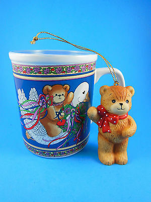 Vintage 1985 LUCY AND & ME Christmas Goose Mug & ornament Enesco