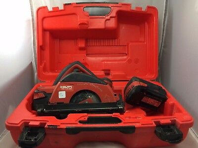 Hilti Cordless Circular Saw Wsc 7.25 A36 2 Batteries In Hard Case