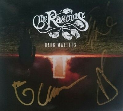The Rasmus All Members Dark Matters Limited Cd Digipack Hand Signed Autographed