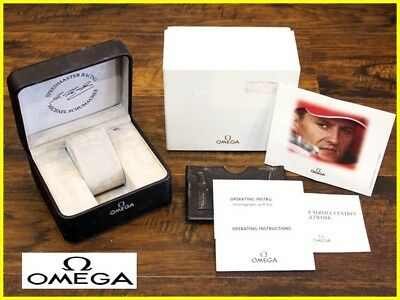 Genuine  Michael Schumacher Edition Omega  Speedmaster  Box and  Papers Set