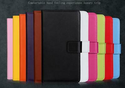 Genuine Real Leather Flip Wallet Case Stand Cover For Sony Xperia L1