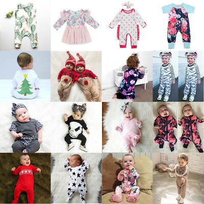 AU Stock Toddler Baby Boy Girl Kids Romper Bodysuit Jumpsuit Outfits Set Clothes