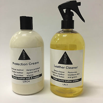 Leather Cleaner & Protection Cream 500ml Set deep down cleaning & protecion