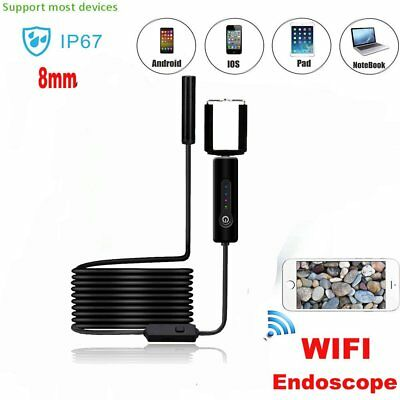 5M 8mm Android Endoscope Waterproof Tube Borescope USB Inspection Camera IL