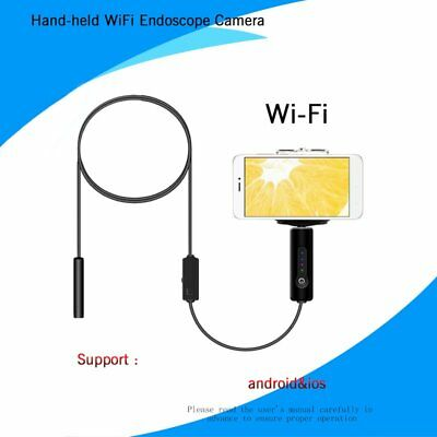 8MM 5M WiFi Endoscope Snake Inspection Camera Waterproof for iPhone Android IL