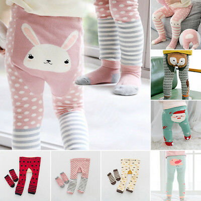 Cute Baby Kids Toddler Girl Boy Leggings Pants Warmer Long Pants With Socks Set