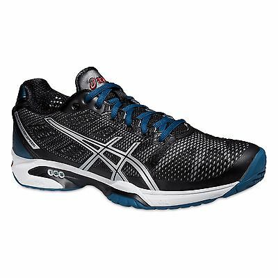 ASICS GEL-SOLUTION SPEED 2 Scarpe Uomo Tennis ONYX/SILVER/MOSAIC BLUE E400Y 9993