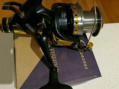 2xBrand new GS9000 size bait feeder fishing reel $95 free shipping bait runner