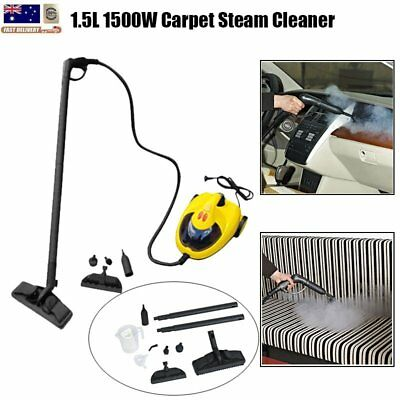 Carpet Steam Cleaner 1500W High Pressure Compact Steamer Handheld Cleaning 1.5L