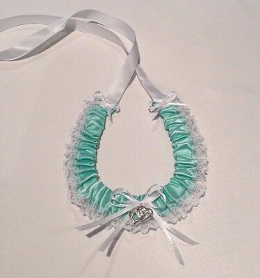Wedding Horseshoe - Aqua/white