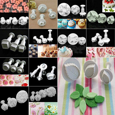 Fondant Sugarcraft Cake Icing Plunger Cutters Mould Baking ools Mold Set Home