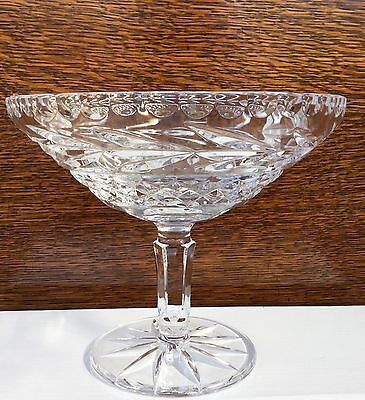 Galway Lead Crystal Cut Glass Comport