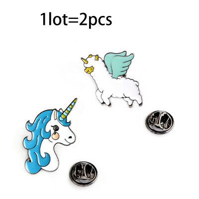New Cute Unicorn Brooches Sets Multi Color Enameled Tiny Animal Clothing Brooch