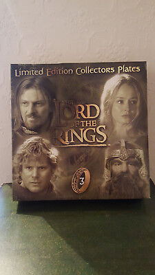 Lord of the Rings Collectible Plates Set 3 (Full set of 4 plates)Limited Edition