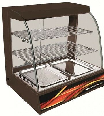 Black Hot Food Cabinet Display With Water Base 4 weeks old used for one week