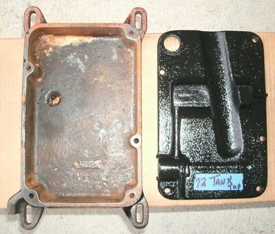 Maytag model 72 Antique Gas Engine Tank Bottom & Top Plate Lid