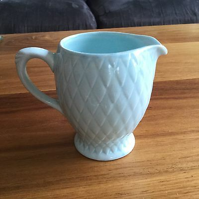 Beautiful Small Milk Jug, marked ENGLAND on base.criss-cross pattern Over Jug