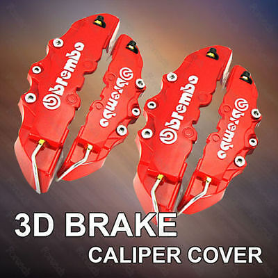 4Pcs Red Brembo Style Car Universal Disc Brake Caliper Covers Front & Rear GIFT