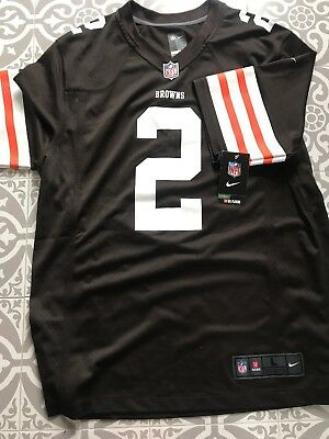 New Nike Cleveland Browns ( Old Style) Johnny Manziel NFL Shirt Jersey mens