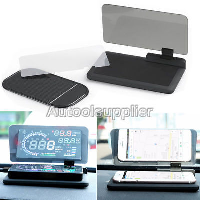 Universal phone Projector HUD Head-Up Display Holder Car GPS Navigator Holder