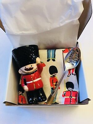 Cath Kidston Soldier Egg Cup & Spoon Gift Set