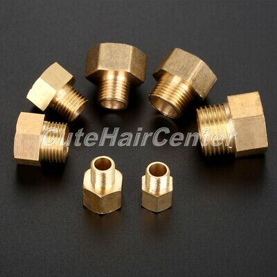 2Pcs Brass Hex Bushing Male to Female Thread Pipe Connector Fitting Pneumatic