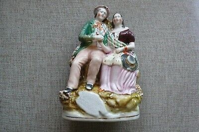 Staffordshire Figure – Robbie Burns And Highland Mary