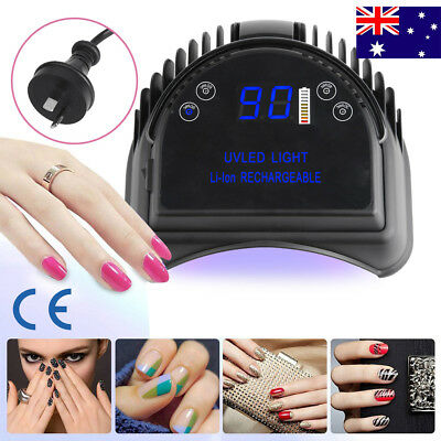 Pro 64W Manicure Tool LED / UV Phototherapy Nail Gel Lamp Rechargeable AU Plug