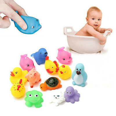 13x Baby Seaside Squirt Bath Rubber Toys Bath Time Squirting Water Toy Float Fun