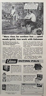 1956 Ad(Odl21)~The Coleman Co. Wichita, Ks. Coleman Camping Pals