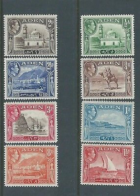 Aden - 1939 KG VI Definitive set to Eight Annas value - Un-mounted mint