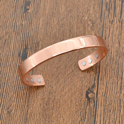 Magnetic Copper Therapy Healing Bracelet Bangle Health Care Jewelry Unisex