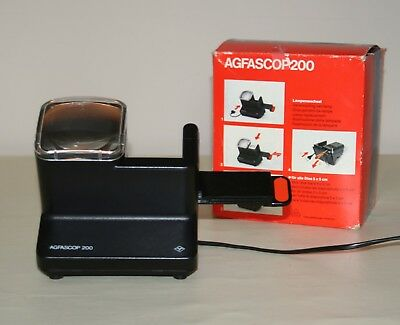 Agfascop 200 Slide Viewer With Box and Instructions