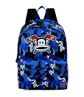 60ca16834a Official Paul Frank Julias Monkey Camouflage Front Pocket Large Backpack Bag  New