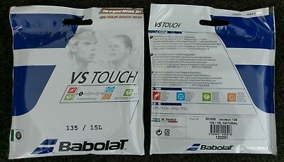 2x 12m Packets of Genuine Babolat VS TOUCH Natural Gut 1.35mm Tennis String