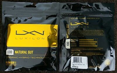 2x 12.2m Packets of Genuine Luxilon Natural Gut 1.30mm Tennis String