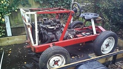 Home Made Tractor. Robin Reliant Running Gear