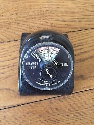 Vintage Smiths GPO Charge Rate Timer Bakelite