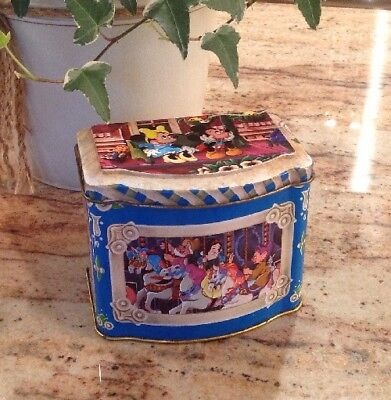 Vintage Walt Disney Productions Hinged Lid Tin Box 1985 Made in England