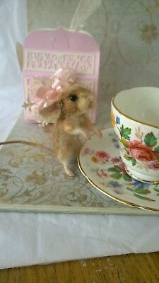 Needle felted mouse, animal ooak, hand made, dolks house
