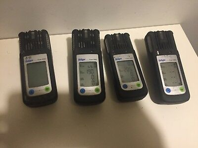 Set of 4 Dräger X-am 2000 gas detector + charge bases Used *Free Shipping""