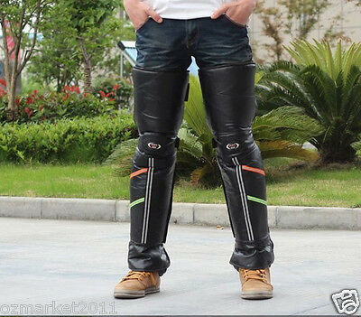 Winter Leather Warm Kneepad Leggings Motorcycle/Bicycle Riding Articles