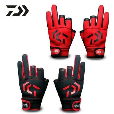 DAIWA fishing gloves outdoor breathable 3 fingers water-proof sport High Quality