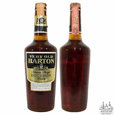 Very Old Barton Kentucky Straight Bourbon Whiskey 12 Years Old Anni '80 75Cl 40°