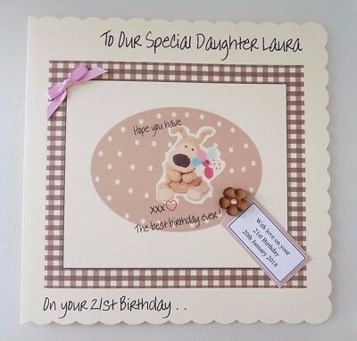 LARGE Personalised Boufle Birthday Card Daughter 13th 16th 18th ANY AGE PERSON