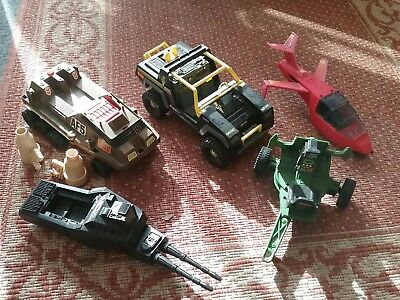 Vintage Action Force Vehicles . Some parts are missing