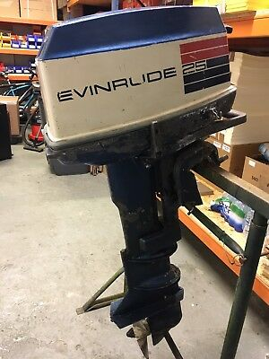 * * * Evinrude Sportster 25hp Outboard * * *