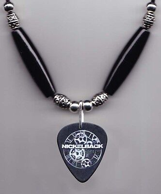 Nickelback Daniel Adair Signature Black Guitar Pick Necklace - 2012 Tour
