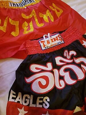 Thai Boxing Two Pairs Of Shorts Size Adult XL
